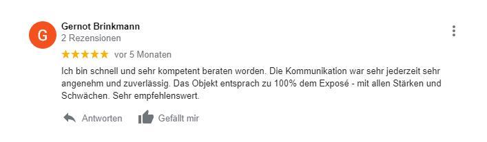 Google Bewertung der-makler.immo