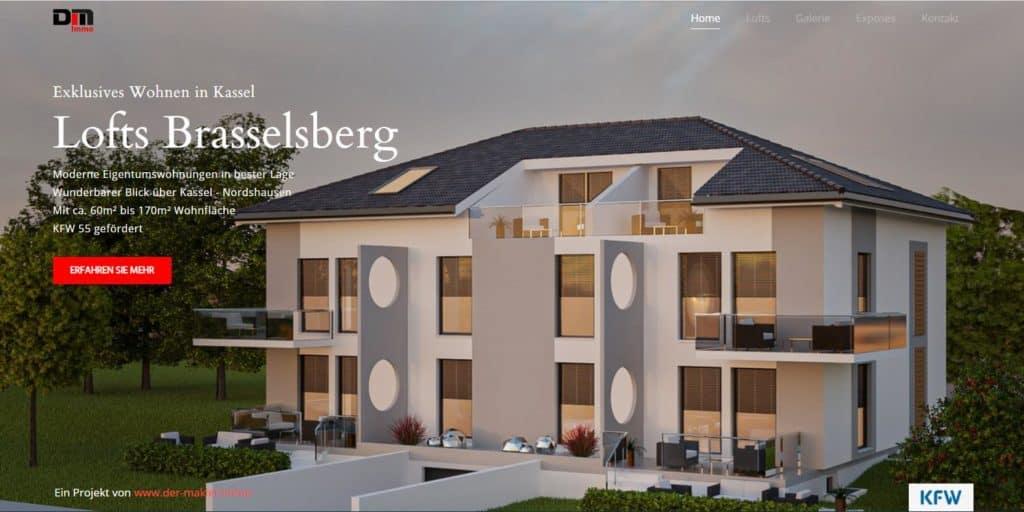 Brasselsberg-Lofts Screenshot Website
